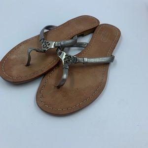 Coach Rachel 6 Sandals Flip Flops Shoes 4C  Silver